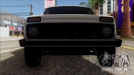 VAZ 2121 Niva BUFG Edição para vista lateral GTA San Andreas