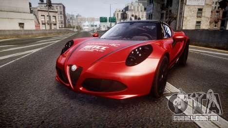 Alfa Romeo 4C 2014 WTCC Safety Car para GTA 4