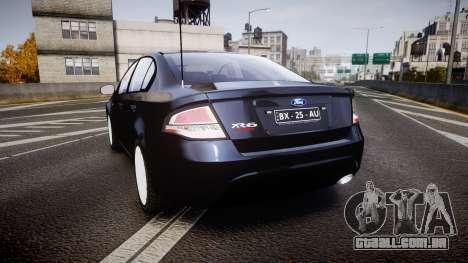 Ford Falcon FG XR6 Unmarked Police [ELS] v2.0 para GTA 4 traseira esquerda vista