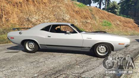 GTA 5 Dodge Challenger RT 440 1970 v0.3 [Beta] vista lateral esquerda