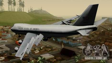 Boeing 747 E-4B para GTA San Andreas esquerda vista