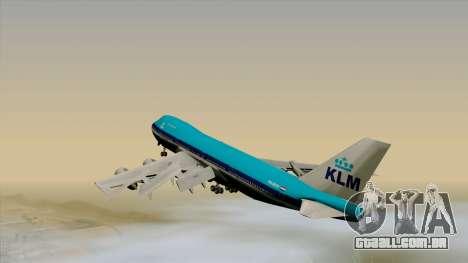 Boeing 747-200B KLM para GTA San Andreas esquerda vista