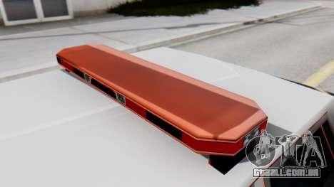 Police LV with Lightbars para GTA San Andreas vista traseira