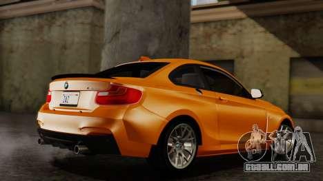 BMW M235i F22 Sport 2014 para GTA San Andreas esquerda vista