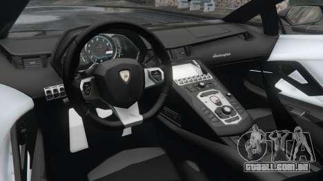 GTA 5 Lamborghini Aventador LP700-4 Police v3.5 traseira direita vista lateral
