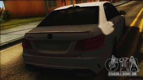 Mercedes-Benz E63 Brabus BUFG Edition para GTA San Andreas vista traseira