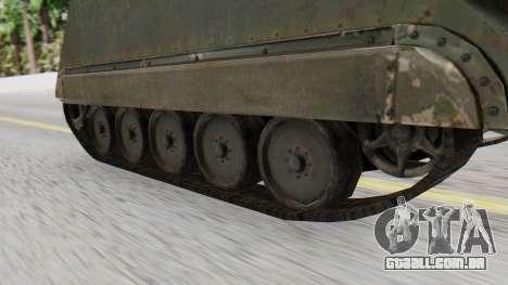 M113 from CoD BO2 para GTA San Andreas traseira esquerda vista
