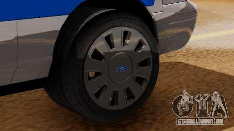 Police Ranger 2013 para GTA San Andreas traseira esquerda vista