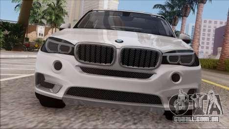 BMW X5 F15 BUFG Edition para GTA San Andreas vista traseira