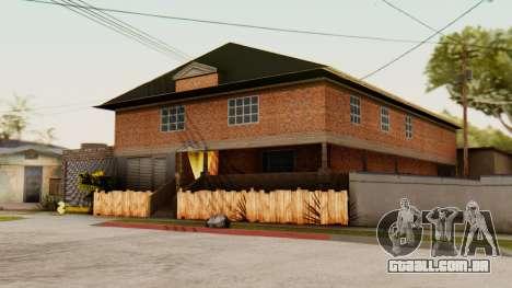 O CJ casa para GTA San Andreas segunda tela