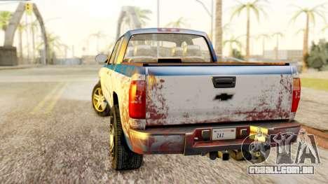 Chevrolet Silverado 2010 TLoU Edition para GTA San Andreas esquerda vista