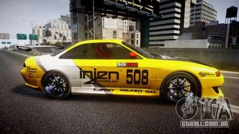 Nissan Silvia S14 TOKICO para GTA 4 esquerda vista