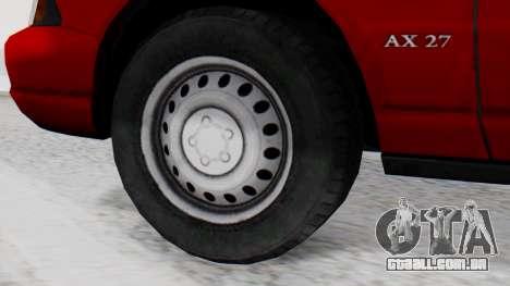 Dolton Broadwing Taxi para GTA San Andreas traseira esquerda vista