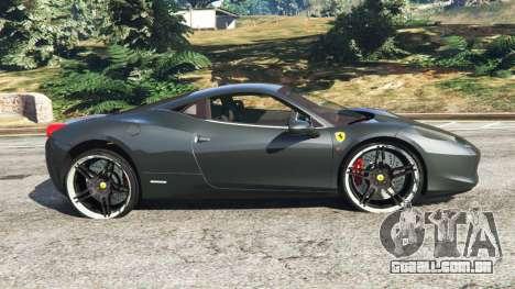 GTA 5 Ferrari 458 Italia v1.0.4 vista lateral esquerda