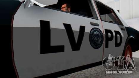 Police LV with Lightbars para GTA San Andreas vista direita