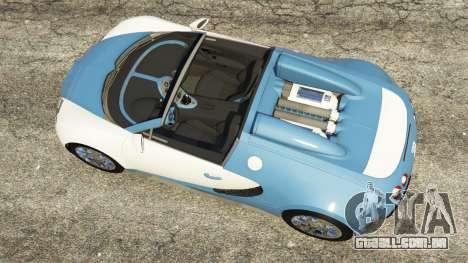 GTA 5 Bugatti Veyron Grand Sport v2.0 voltar vista