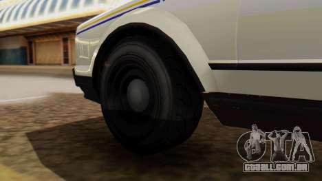 GTA 5 Albany Esperanto Police Roadcruiser para GTA San Andreas traseira esquerda vista