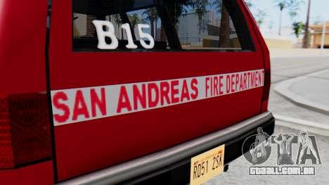 FDSA Fire SUV para GTA San Andreas vista direita