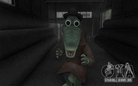 Crocodilo Gena para GTA San Andreas por diante tela