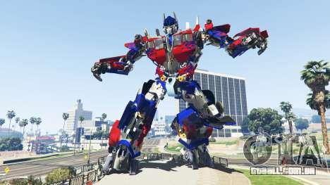 A Estátua De Optimus Prime para GTA 5