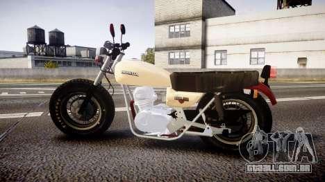 Honda CB-100 para GTA 4 esquerda vista