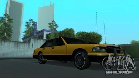 New Taxi para GTA San Andreas vista superior