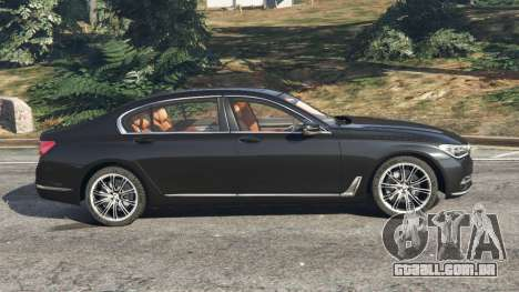 GTA 5 BMW 750Li 2016 vista lateral esquerda
