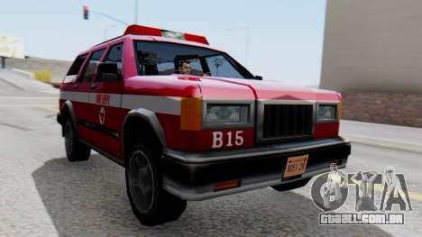 FDSA Fire SUV para GTA San Andreas