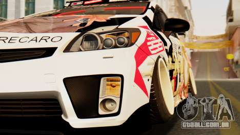 Toyota Prius JDM 2011 Itasha para GTA San Andreas vista traseira