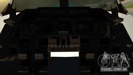 Boeing 747 Delta para GTA San Andreas vista traseira