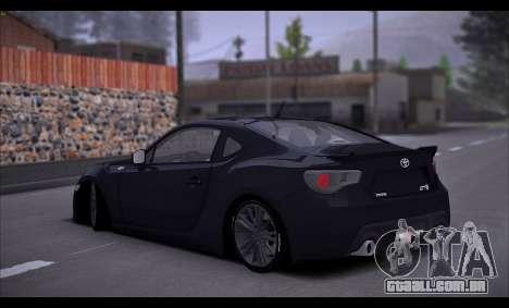 Toyota GT86 2012 BUFG Edition para GTA San Andreas vista direita