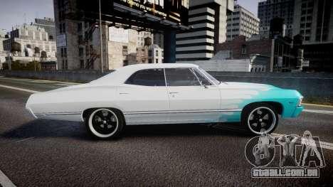 Chevrolet Impala 1967 Custom livery 1 para GTA 4 esquerda vista
