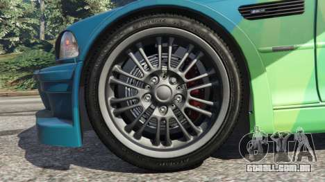 GTA 5 BMW M3 GTR E46 PJ1 traseira direita vista lateral
