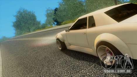 Elegy Rocket Bunny Edition para GTA San Andreas vista inferior