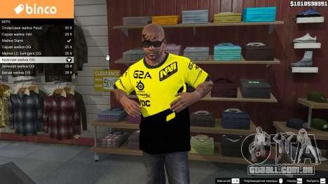 T-shirt para o Natus Vincere Franklin para GTA 5