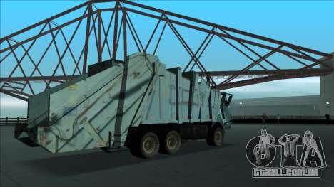 TDK Volvo Xpeditor Garbage Crash Version para vista lateral GTA San Andreas