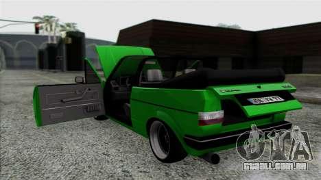 Volkswagen Golf Cabrio VR6 para GTA San Andreas vista interior