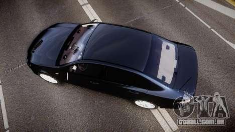 Ford Falcon FG XR6 Unmarked Police [ELS] v2.0 para GTA 4 vista direita