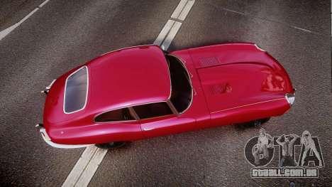 Jaguar E-type 1961 para GTA 4 vista direita