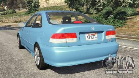 Honda Civic Si 1999 v1.1 para GTA 5