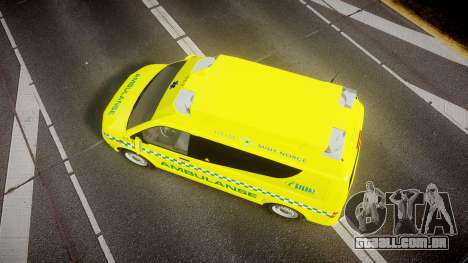 Volkswagen Transporter Norwegian Ambulance [ELS] para GTA 4 vista direita