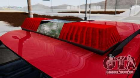 FDSA Fire SUV para GTA San Andreas traseira esquerda vista