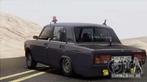 VAZ 2107 Avtosh Style para GTA San Andreas vista direita