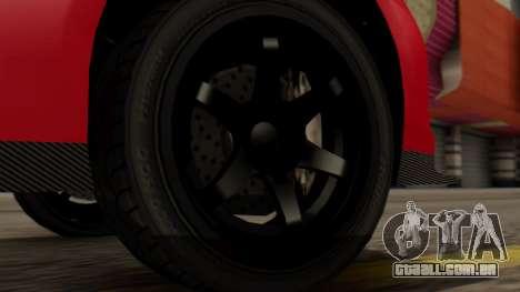 GTA 5 Annis Elegy RH8 IVF para GTA San Andreas traseira esquerda vista