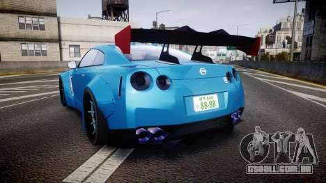 Nissan GT-R (R35) para GTA 4 traseira esquerda vista