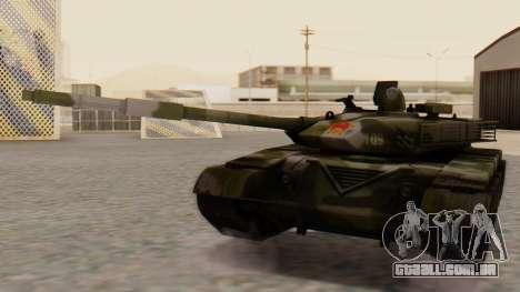 Type 99 para GTA San Andreas traseira esquerda vista