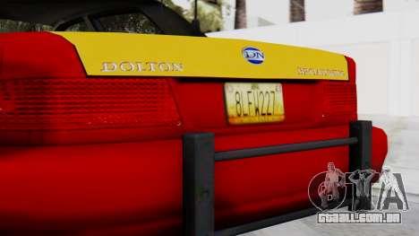 Dolton Broadwing Taxi para GTA San Andreas vista traseira