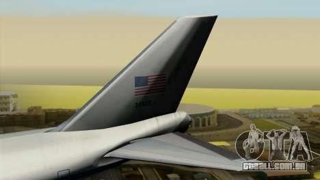 Boeing 747 E-4B para GTA San Andreas traseira esquerda vista