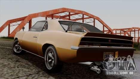 GTA 5 Declasse Vigero para GTA San Andreas esquerda vista