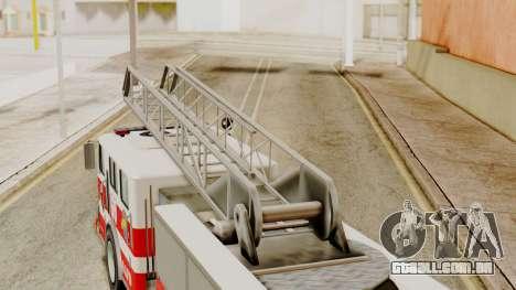 SAFD Fire Lader Truck Flat Shadow para GTA San Andreas vista direita